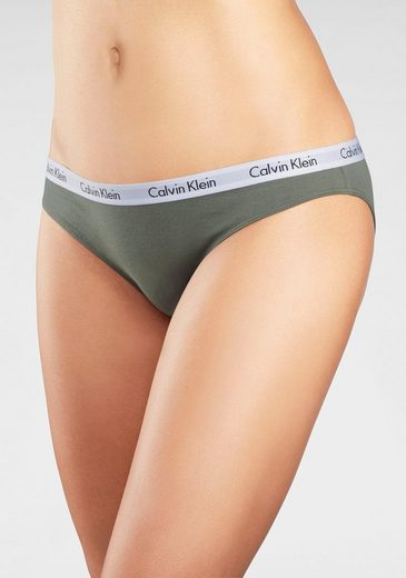 gestreiftkhaki »carousel«3 Bikinislip StückHellrosapink Klein Calvin EDYeIWH29