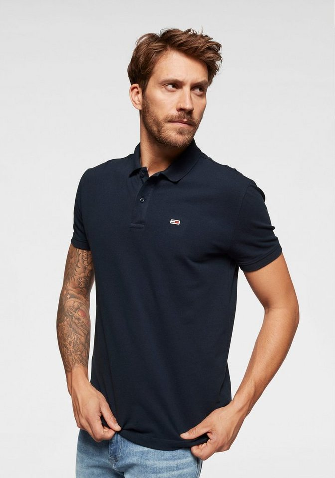 tommy jeans -  Poloshirt »TJM TOMMY CLASSICS SOLID POLO« mit schmalen Schlitzen an den Seiten