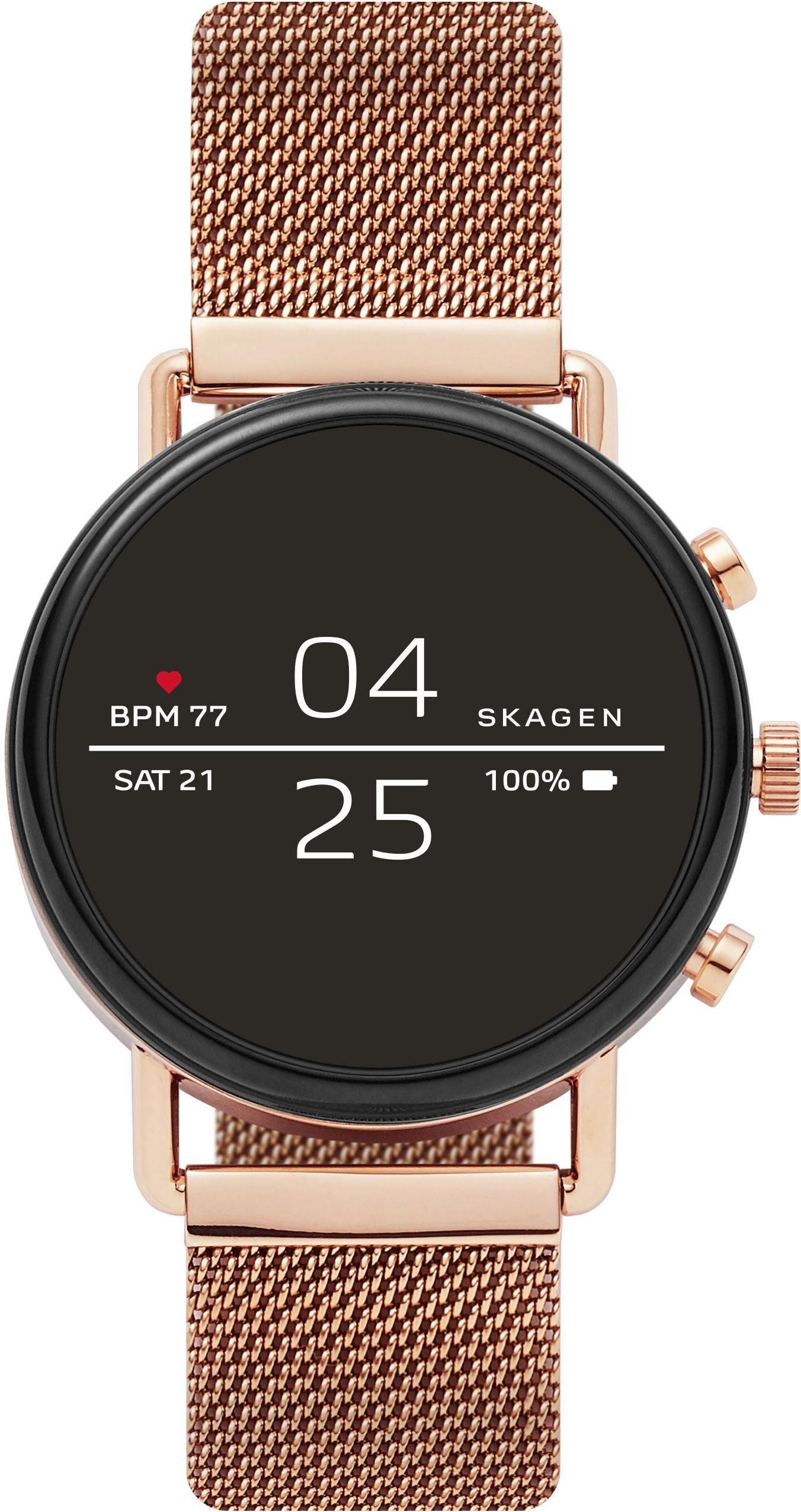 SKAGEN CONNECTED FALSTER, SKT5103 Smartwatch (1,19 Zoll, Wear OS by Google, mit individuell einstellbarem Zifferblatt)