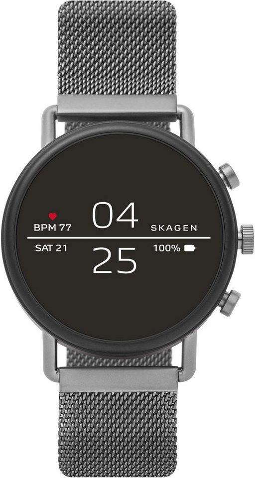 SKAGEN CONNECTED FALSTER, SKT5105 Smartwatch (1,19 Zoll, Wear OS by Google, mit individuell einstellbarem Zifferblatt) | Uhren > Smartwatches | Grau | SKAGEN CONNECTED