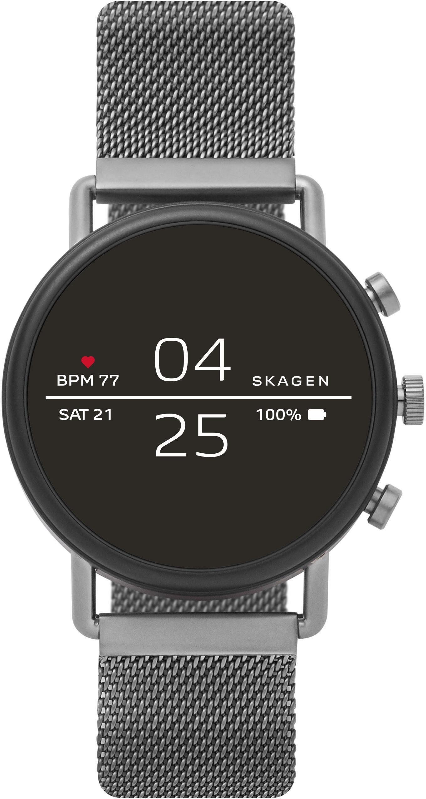 SKAGEN CONNECTED FALSTER, SKT5105 Smartwatch (1,19 Zoll, Wear OS by Google, mit individuell einstellbarem Zifferblatt)