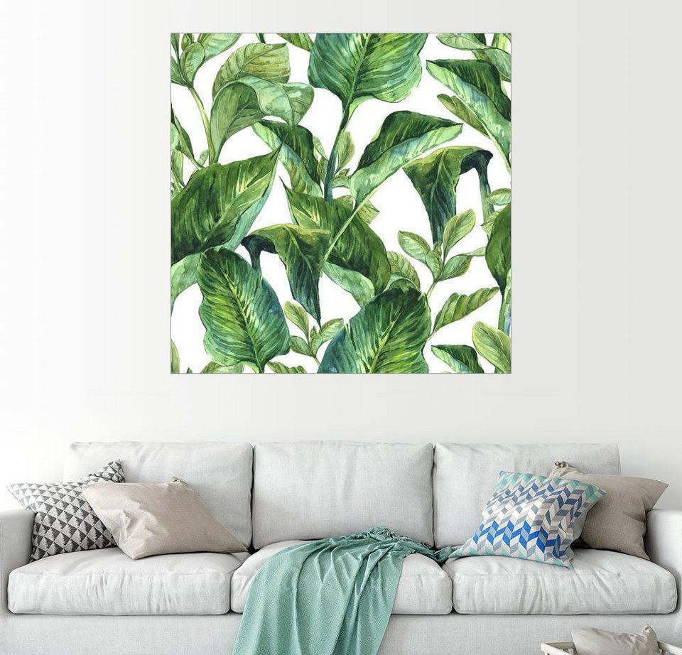 Posterlounge Wandbild »Tropische Blätter in Aquarell« online kaufen | OTTO