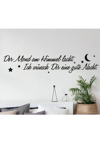 QUEENCE Sienos lipdukai »Der Mond ant Himmel l...
