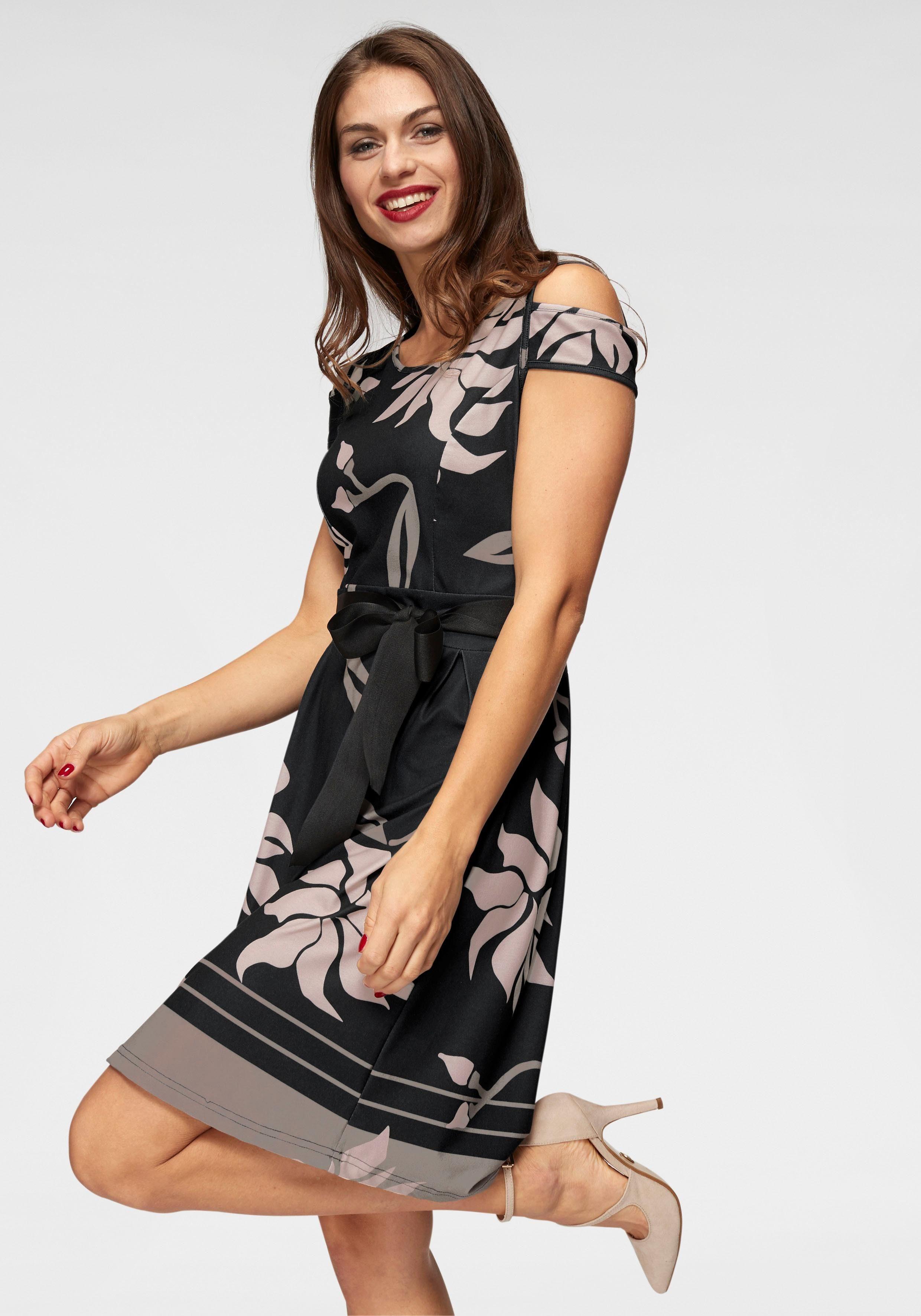 Aniston Kleid schwarz-grau Gr 34 36 38 40 42 44
