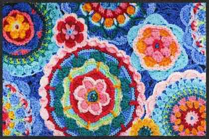 Fußmatte »Crochet«, Salonloewe, rechteckig, Höhe 7 mm, In- und Outdoor geeignet