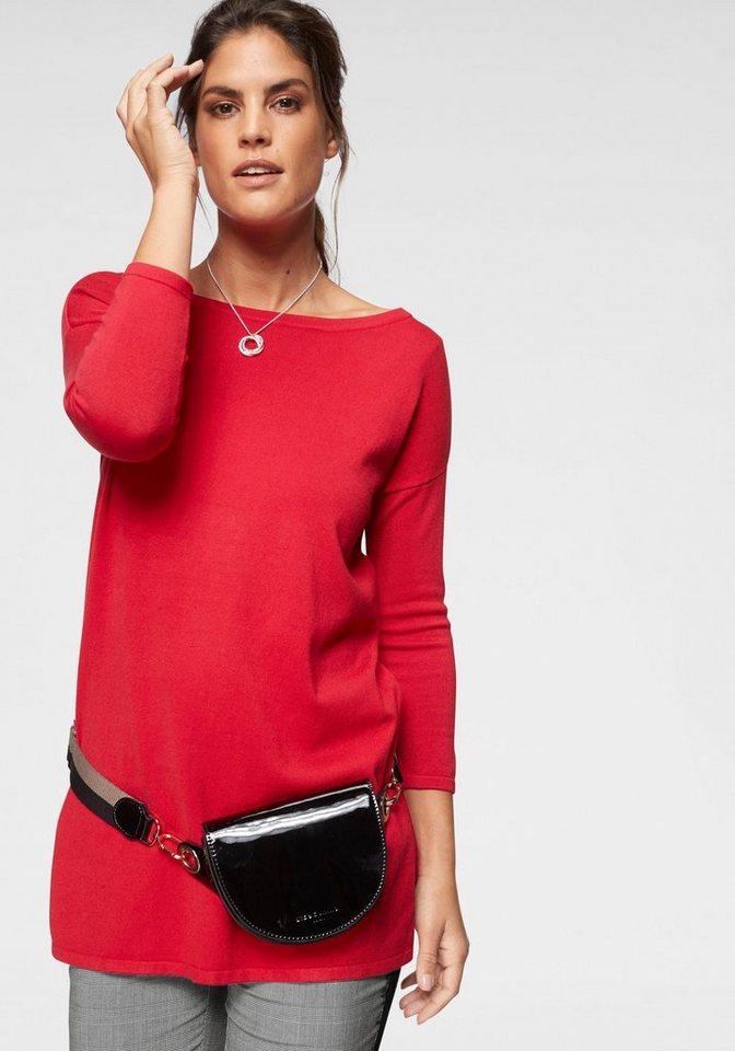 Laura Scott Longpullover mit Seitenschlitzen   Bekleidung > Pullover > Longpullover   Rot   Laura Scott
