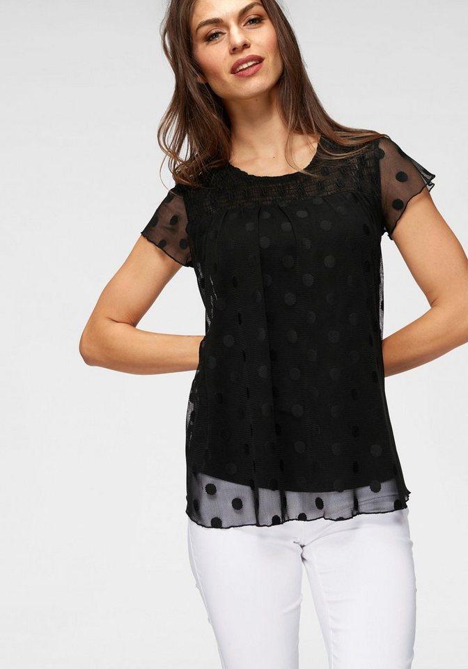 best sneakers 4b049 dad94 Aniston SELECTED Netzshirt mit Smokeinsatz im Vorderteil online kaufen |  OTTO