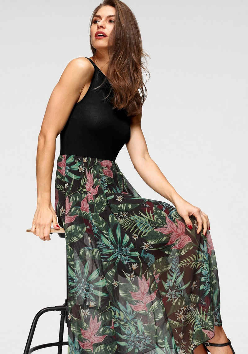 Aniston SELECTED Sommerkleid mit buntem Rockteil