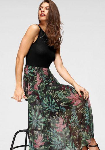 Aniston SELECTED Sommerkleid mit ausgestellem, buntem Rockteil