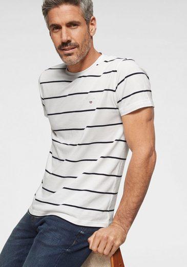 Weiß »breton Stripe« Gant T shirt marine gestreift 35RLqj4AcS