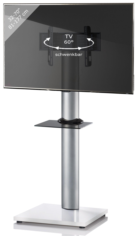 VCM TV-Standfuß ´´Onu Weißlack´´   Wohnzimmer > TV-HiFi-Möbel > Ständer & Standfüße   Weiß   Aluminium - Mdf - Sicherheitsglas - Lackiert   VCM