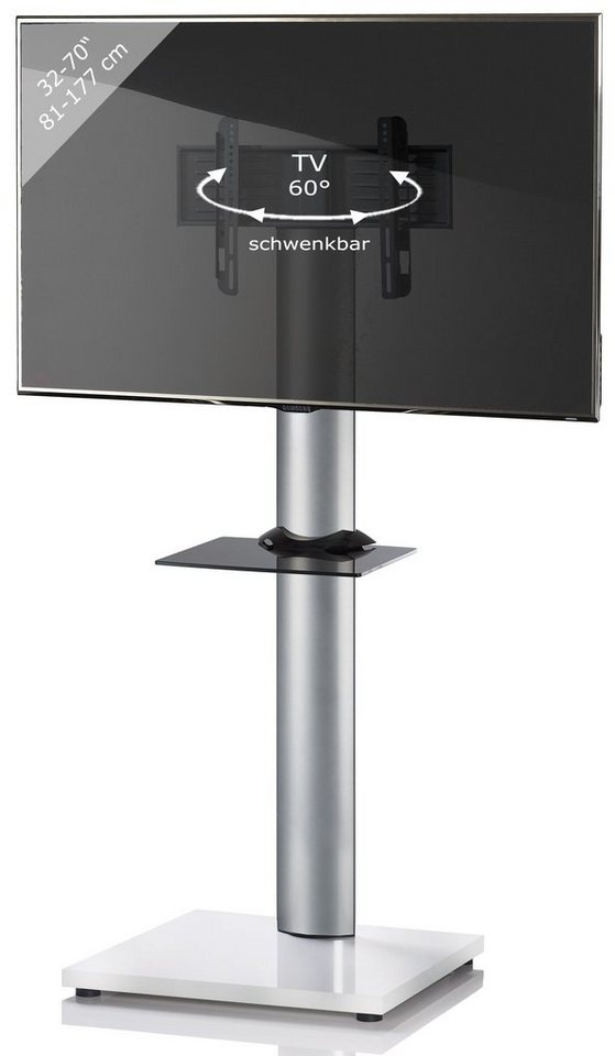 VCM TV-Standfuß ´´Onu Weißlack´´   Wohnzimmer > TV-HiFi-Möbel > Ständer & Standfüße   Weiß   VCM