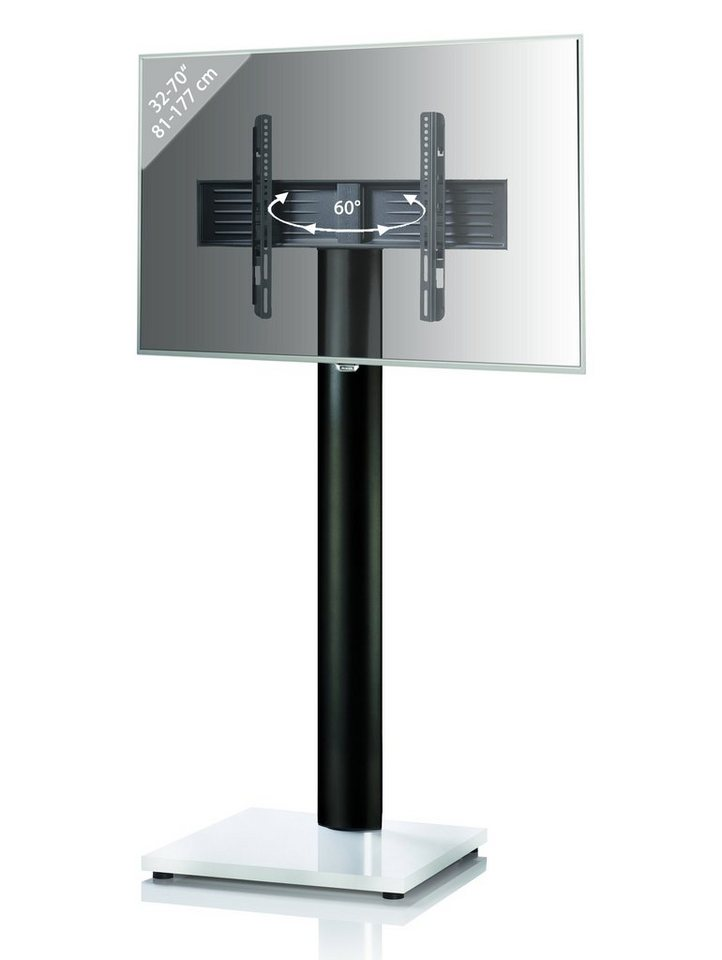 VCM TV-Standfuß ´´Onu Schwarz / Weisslack´´ | Wohnzimmer > TV-HiFi-Möbel > Ständer & Standfüße | Weiß | VCM