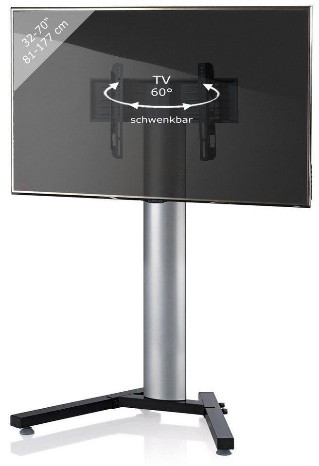 VCM TV-Standfuß ´´Stadino Mini Silber´´ | Wohnzimmer > TV-HiFi-Möbel > Ständer & Standfüße | Schwarz | VCM