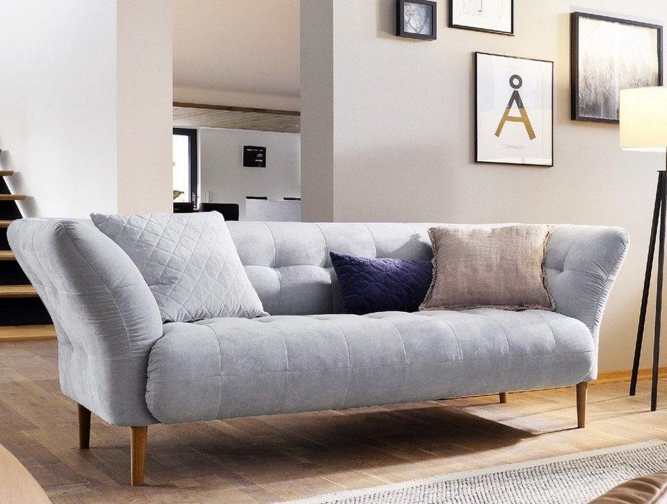 Enormt Kasper-Wohndesign Sofa 2 Armlehnen Stoff light blue versch. Größen ZK-04
