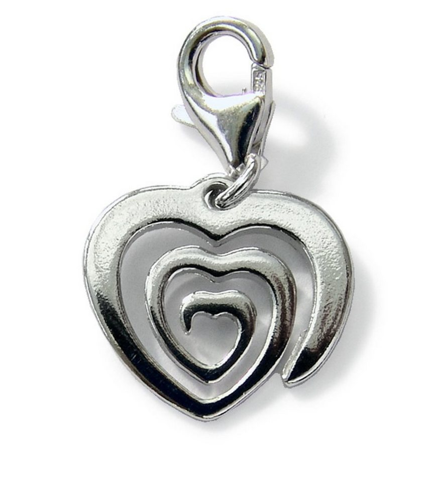 Zeeme Charms-Anhänger ´´Spiralherz´´ »925/- Sterling Silber rhodiniert«   Schmuck > Halsketten > Herzketten   Weiß   Zeeme