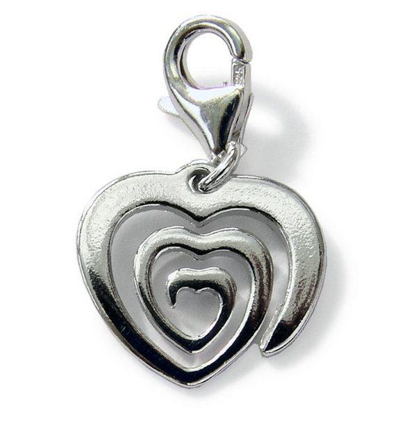 Zeeme Charms-Anhänger ´´Spiralherz´´ »925/- Sterling Silber rhodiniert« | Schmuck > Halsketten > Herzketten | Weiß | Zeeme