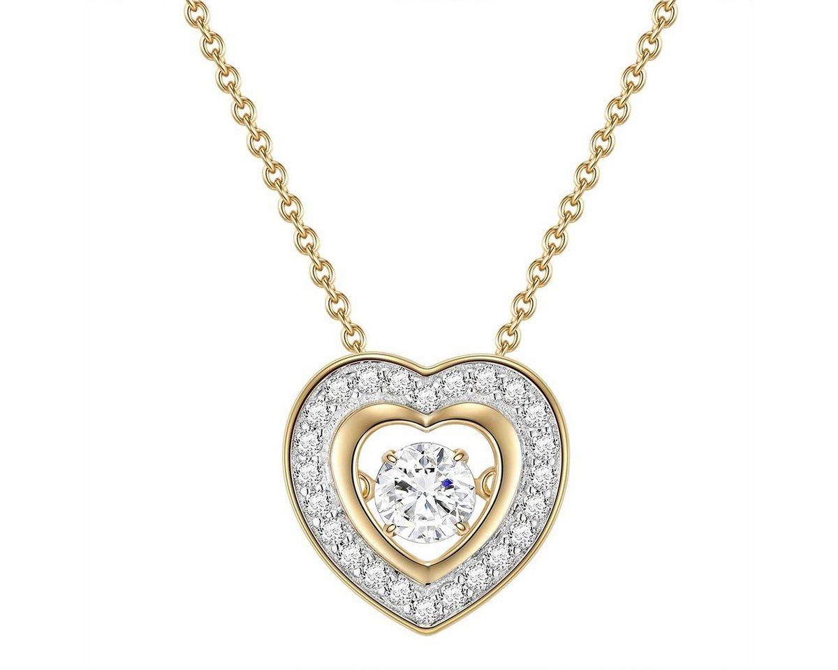 Rafaela Donata Gliederkette »G848« mit beweglichem Zirkonia | Schmuck > Halsketten > Gliederketten | Goldfarben | Rafaela Donata