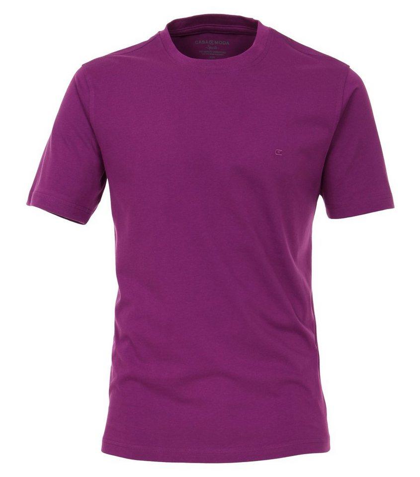 casamoda -  T-Shirt »T-Shirt mit Rundhalsausschnitt unifarben«