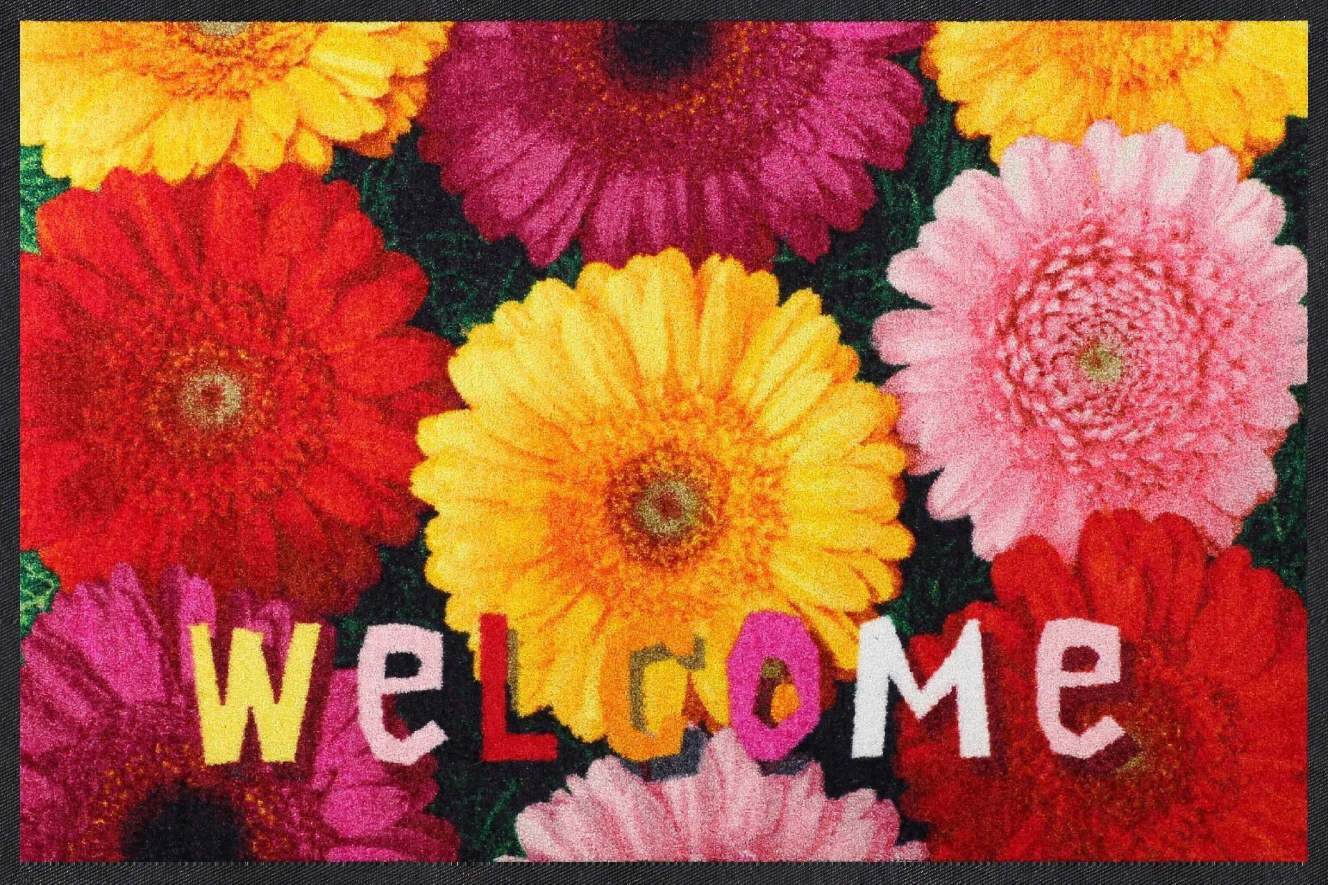 Fußmatte »Welcome Gerbera«, Salonloewe, rechteckig, Höhe 7 mm, In- und Outdoor geeignet