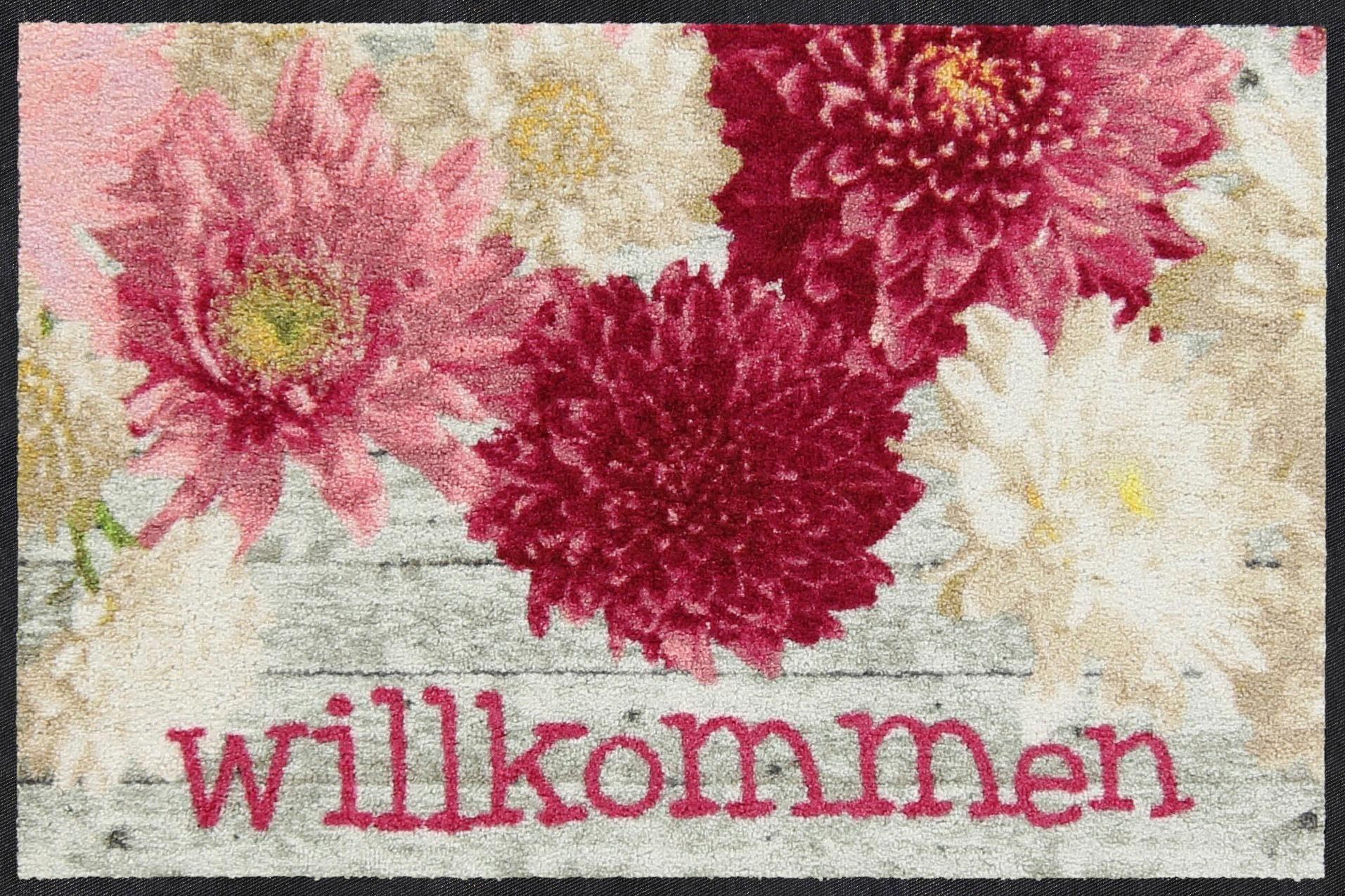 Fußmatte »Dahlia Willkommen«, Salonloewe, rechteckig, Höhe 7 mm