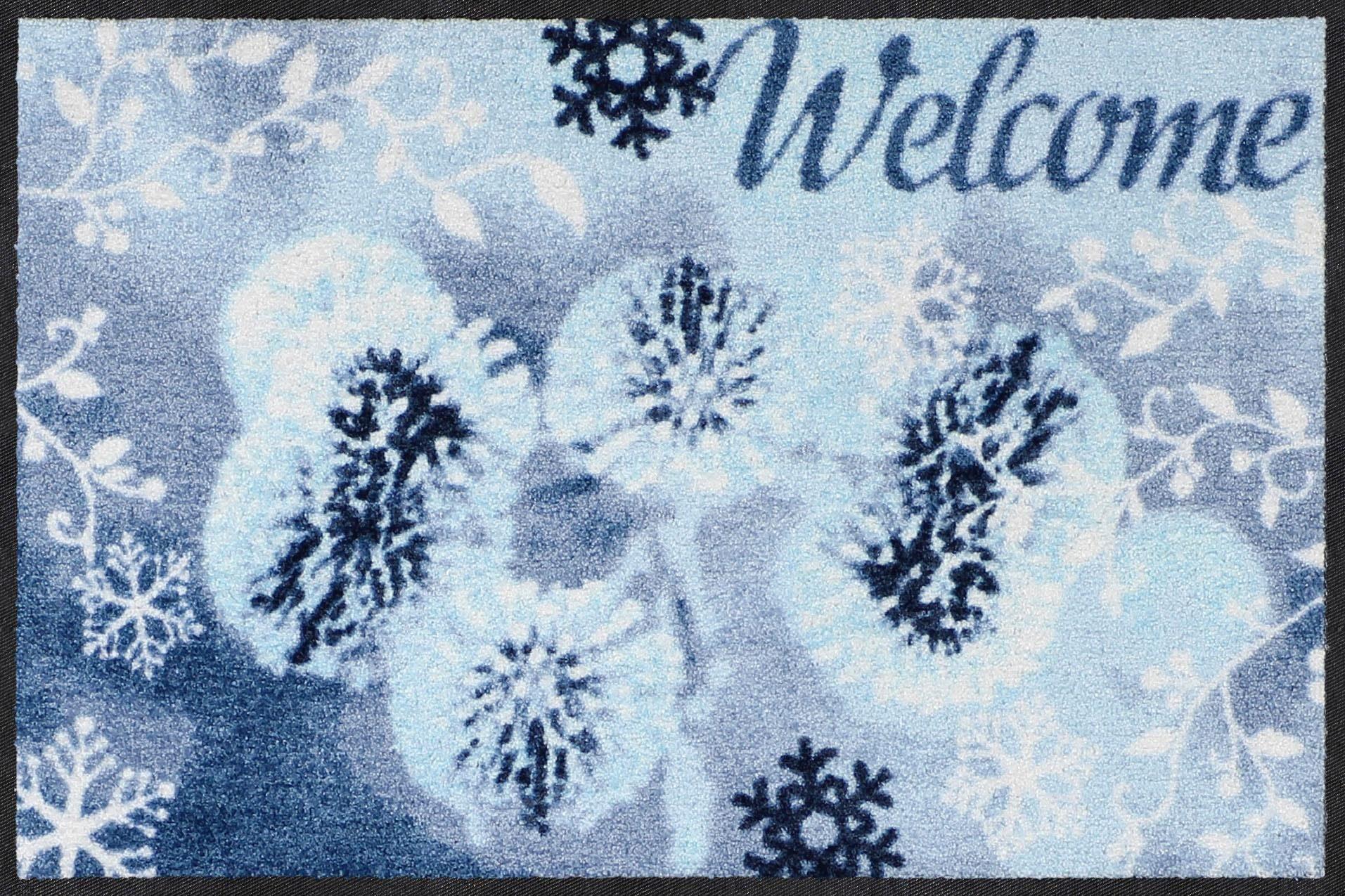 Fußmatte »Welcome Winter«, Salonloewe, rechteckig, Höhe 7 mm, In- und Outdoor geeignet