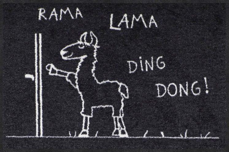 Fußmatte »Rama Lama Ding«, Salonloewe, rechteckig, Höhe 7 mm, In- und Outdoor geeignet