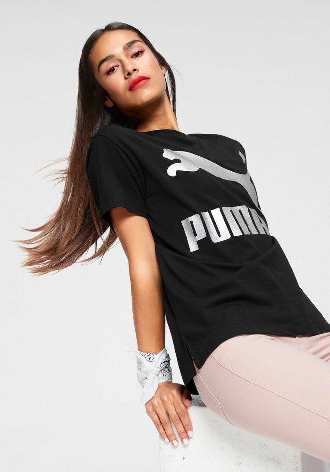 puma t shirt classics logo tee logodruck online kaufen. Black Bedroom Furniture Sets. Home Design Ideas