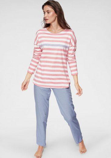 seidensticker Pyjama, mit zartem Streifenmuster