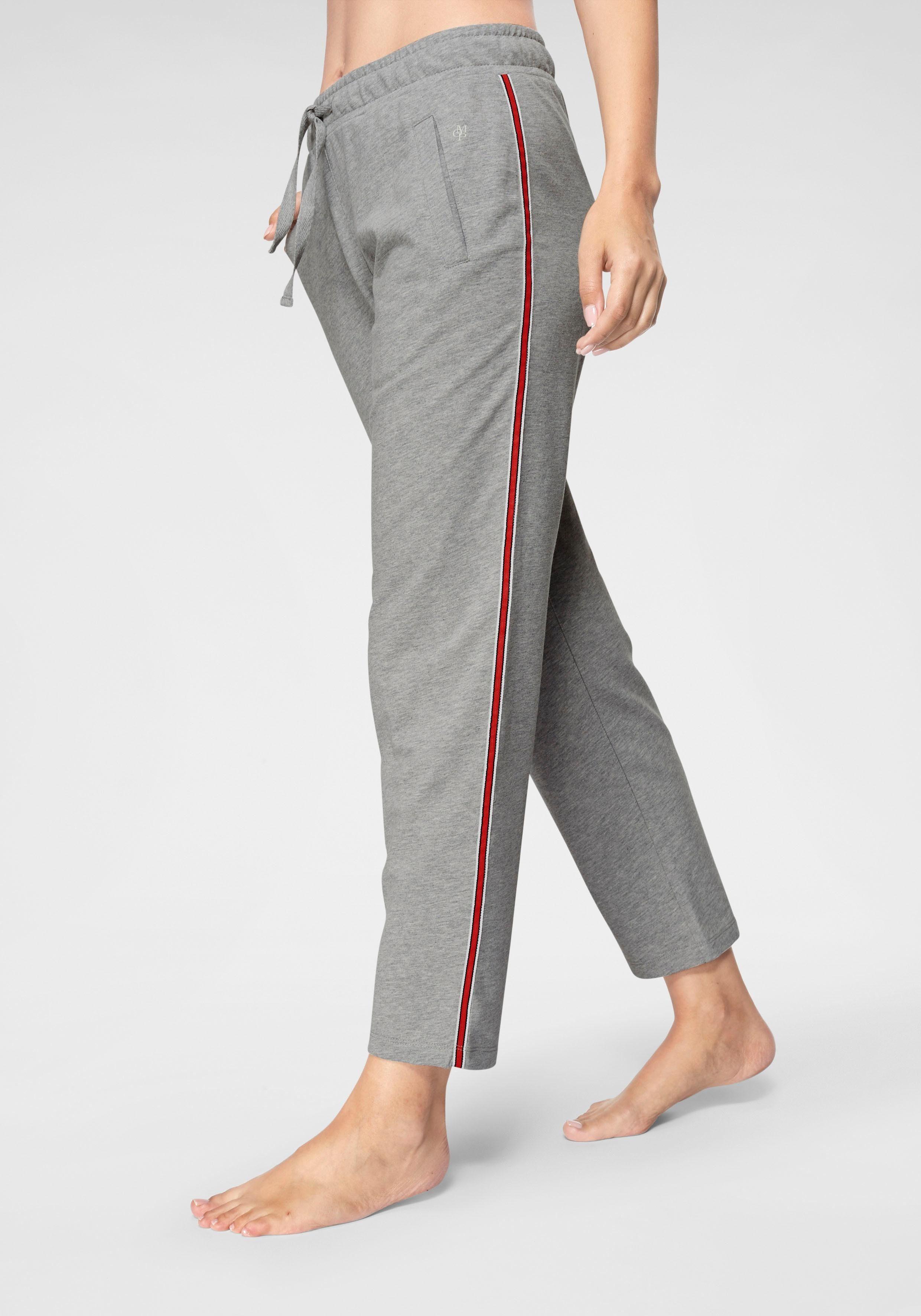 Marc O'Polo Schlafhose mit seitlichem Tapestreifen