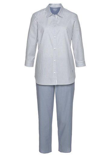 Seidensticker Streifenmuster In Pyjama Mit Schnitt Klassischem Hellblau PXOuikZT