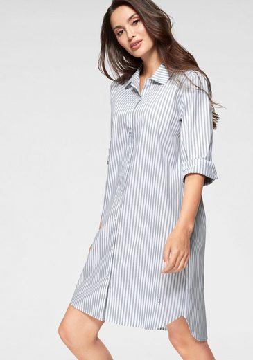 seidensticker Nachthemd in klassischem Schnitt mit Streifenmuster