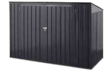 KONIFERA Mülltonnenbox »Polly B«, für 2x240 l aus Metall, BxTxH: 172x100x131 cm