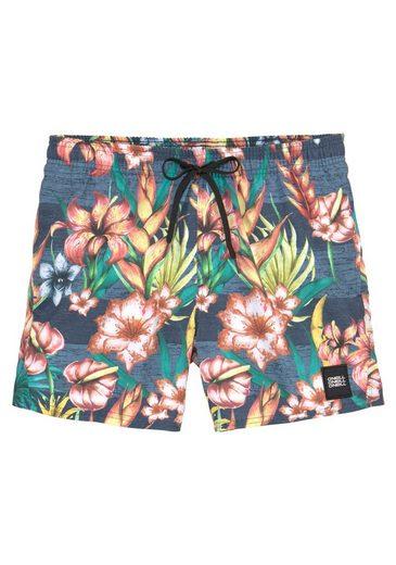 O'Neill Badeshorts, im floralen Design