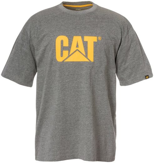 CATERPILLAR T-Shirt »CAT TM Logo«, grau, M - XXL