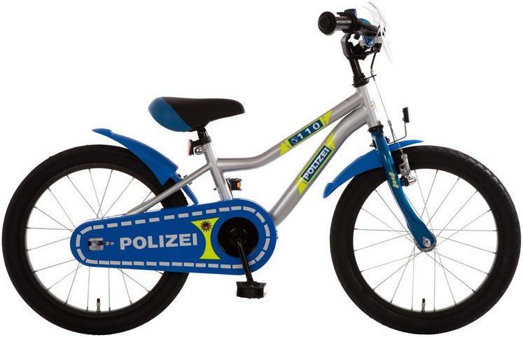 BACHTENKIRCH Kinderfahrrad »Polizei«, 18 Zoll, 1 Gang, Rücktritt- und Seitenzugbremse