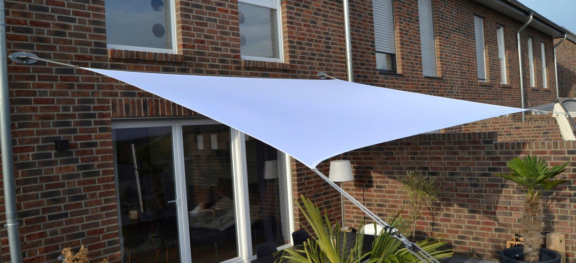 FLORACORD Sonnensegel , BxL: 400x300 cm, weiß