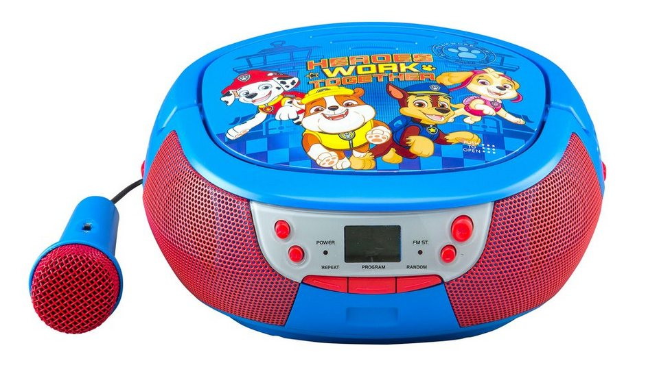 ekids cd player mit mikrofon im paw patrol design pw 430. Black Bedroom Furniture Sets. Home Design Ideas