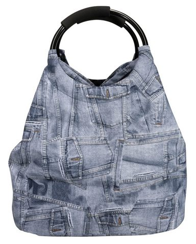 Hti Strandtasche Shopping »jeanslook« living Und wq8AY7p