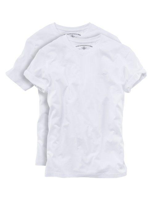 roadsign australia -  T-Shirt »2er Pack T-Shirt Rundhals weiß«