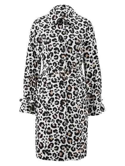 heine STYLE Trenchcoat in aktuellem Animal-Priint