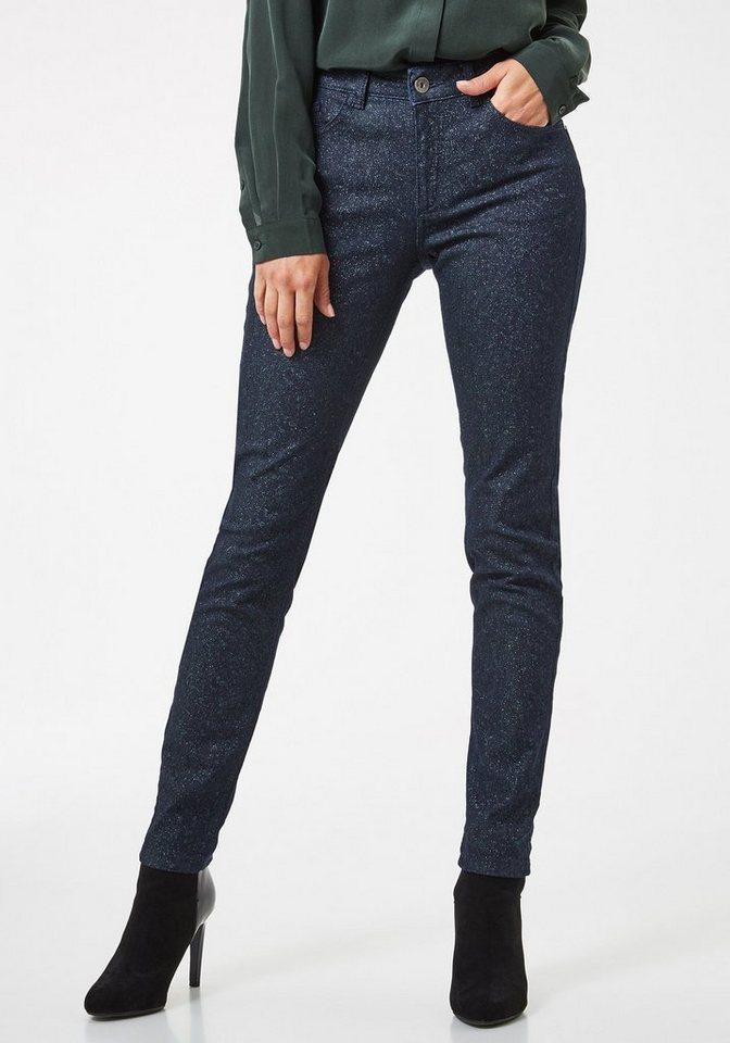 bb24e6872c96b6 Damen Pierre Cardin Jeans aus Glitzerdenim – Skinny Fit My Favourite grün