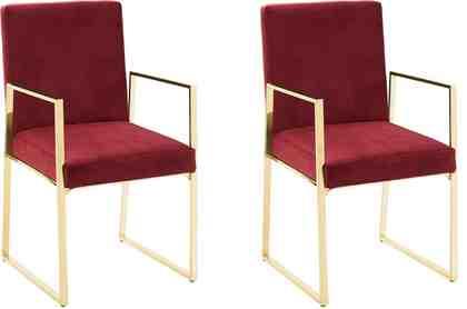 GMK Home & Living 2er Set Esszimmerstuhl »Kiarwei« mit elegantem Metallgestell und weichem Samtchenille Bezug