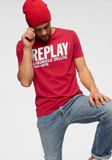 Replay Print-Shirt Mit Markenfrontprint