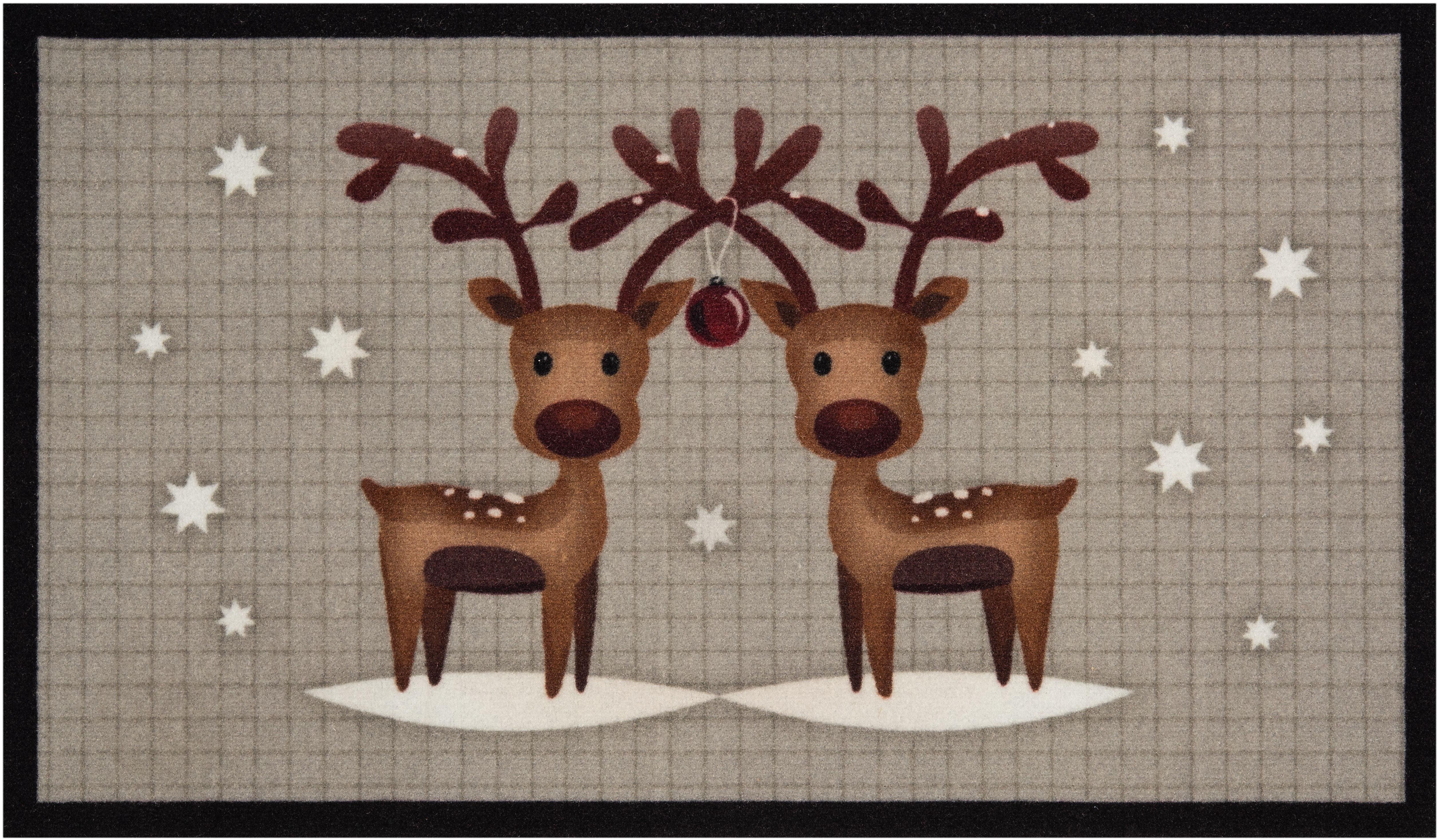 Fußmatte »Two Reindeers«, HANSE Home, rechteckig, Höhe 7 mm