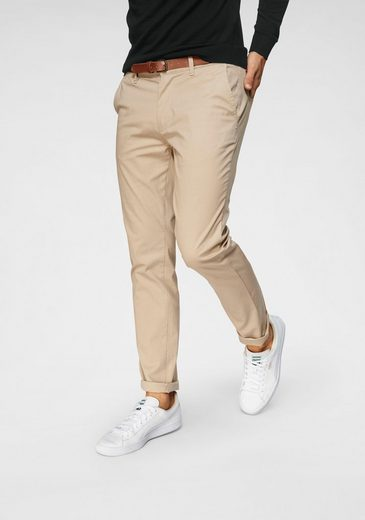 SELECTED HOMME Chinohose »SLIM-YARD WHITE PEPPER PANTS« (Set, 2-tlg., mit Gürtel)