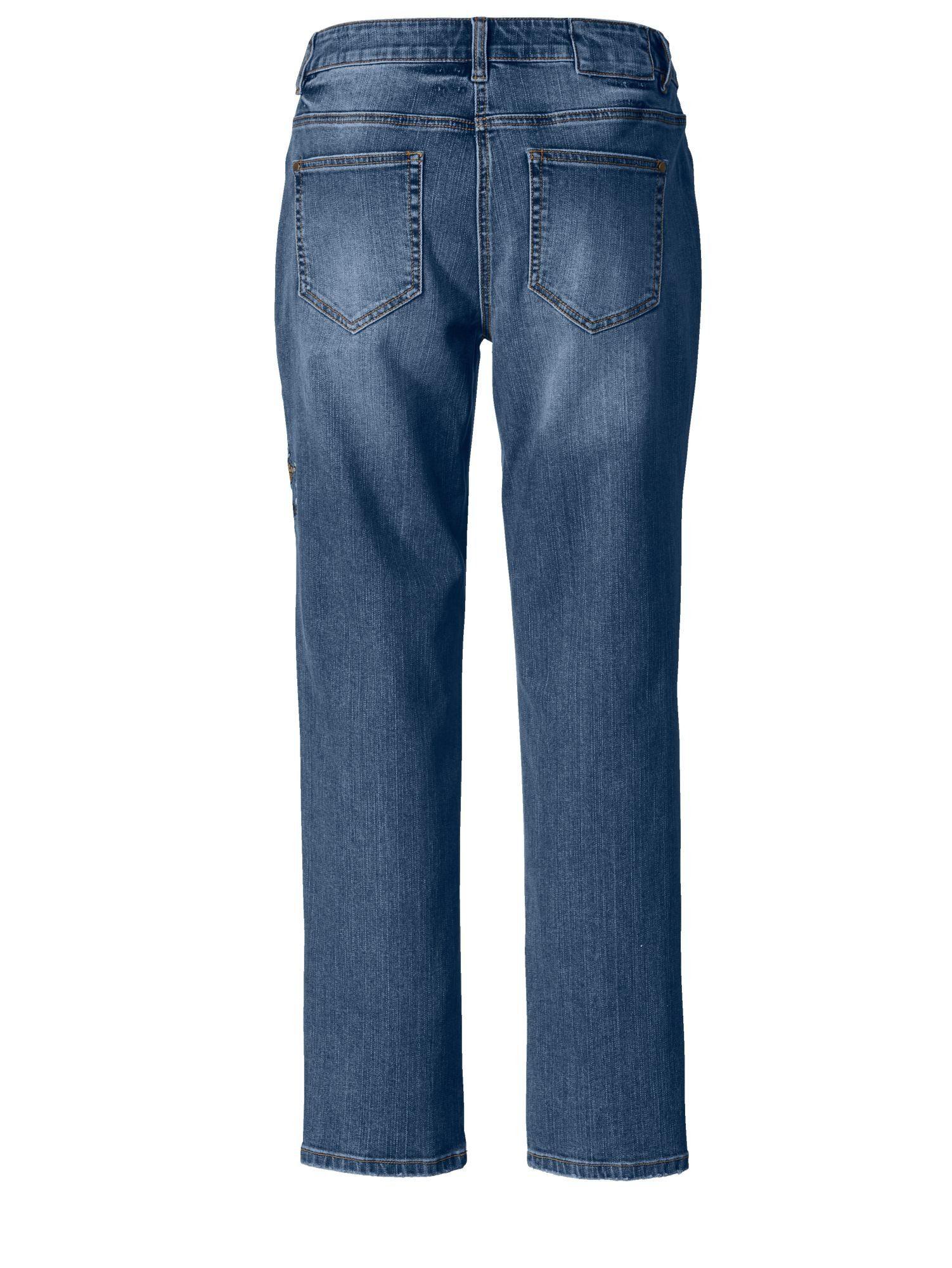 Sara Lindholm by Happy Size Slim Fit Jeans mit Stickerei online kaufen | OTTO