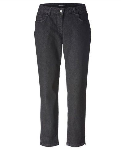 Sara Lindholm by Happy Size Slim Fit Jeans knöchellang