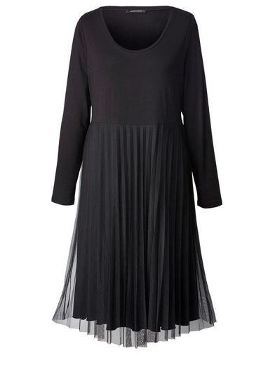 Sara Lindholm by Happy Size Jersey-Kleid mit Plissee