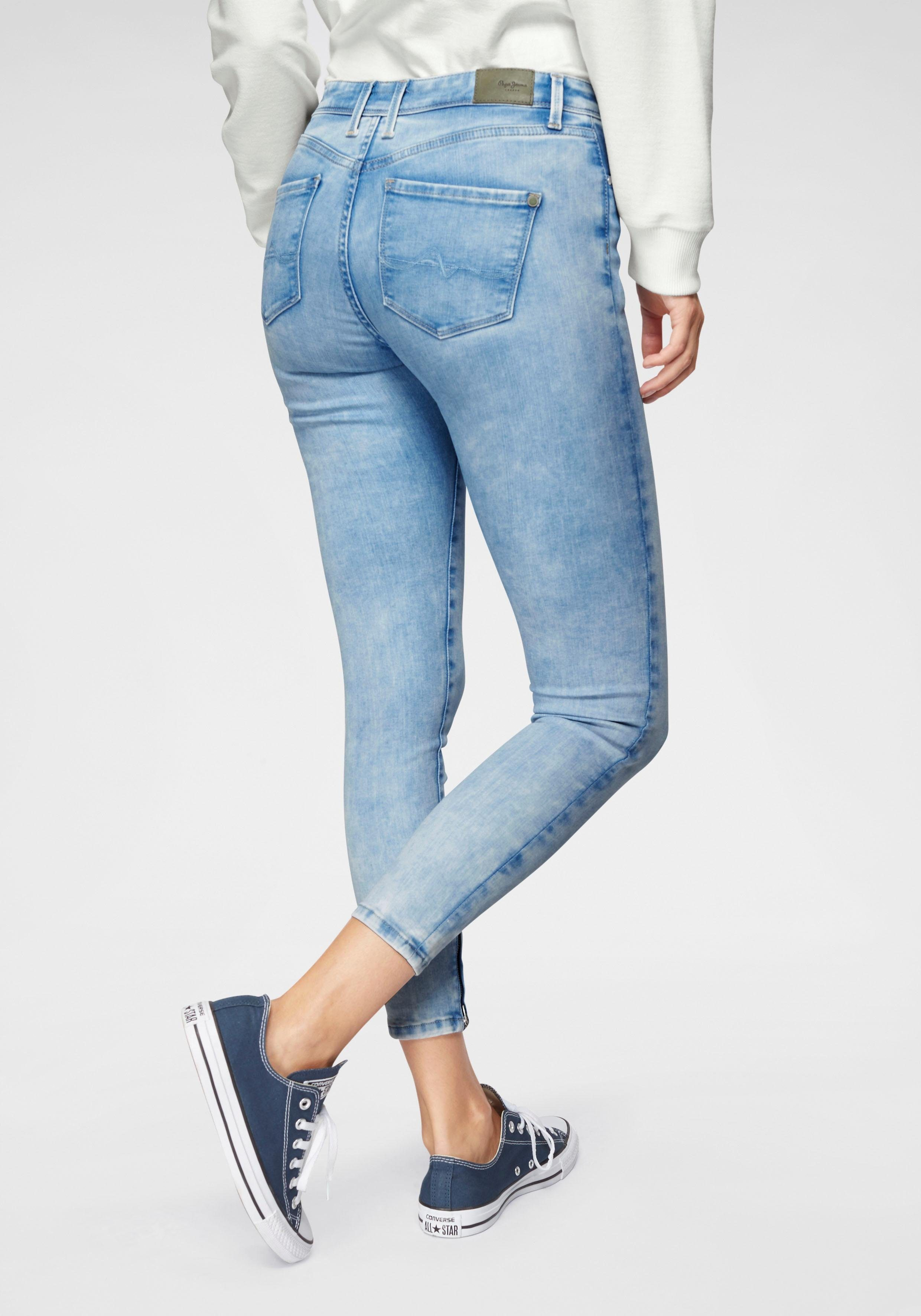 Pepe Jeans Skinny fit Jeans »CHER HIGH« WISER WASH® online kaufen | OTTO